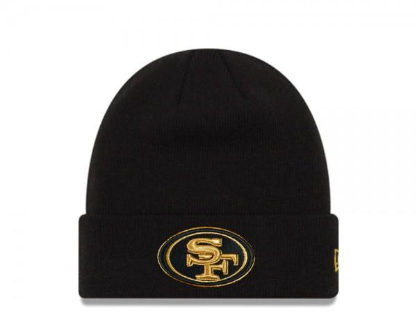 New Era San Francisco 49ers Black and Gold Logo Mütze