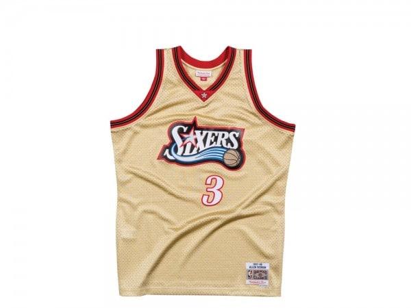 Mitchell & Ness Philadelphia 76ers - Allen Iverson Swingman Gold Edition Jersey