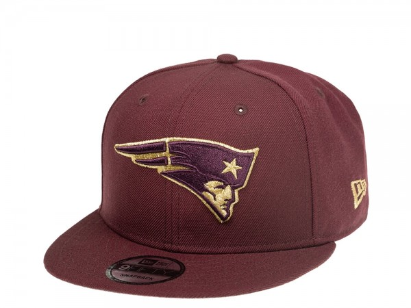 New Era New England Patriots Maroon Gold Edition 9Fifty Snapback Cap