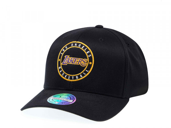 Mitchell & Ness Los Angeles Lakers Circle Patch 110 Flex Snapback Cap