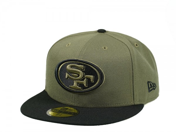 New Era San Francisco 49ers Olive Black Edition 59Fifty Fitted Cap