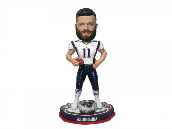 New England Patriots Julian Edelman Bobblehead Figur Super Bowl LIII Champs