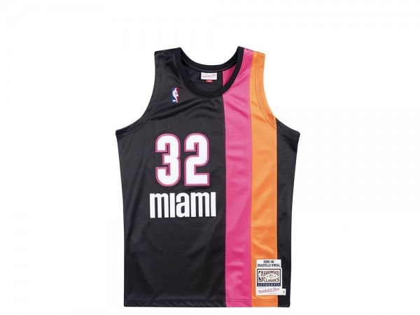 Mitchell & Ness Miami Heat - Shaquille O'Neal Authentic Jersey schwarz 2005-06