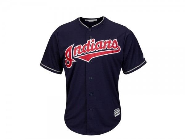 Majestic Cleveland Indians Cool Base MLB Trikot blau